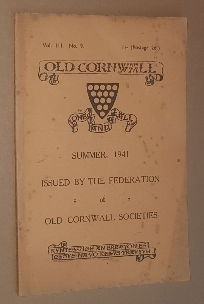Image for Old Cornwall vol.III, no.9, Summer 1941