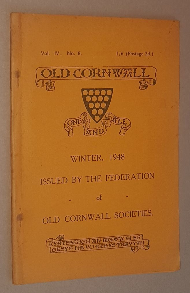 Image for Old Cornwall vol.IV, no.8, Winter 1948