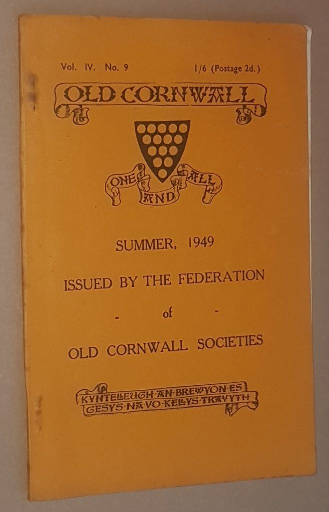 Image for Old Cornwall vol.IV, no.9, Summer 1949