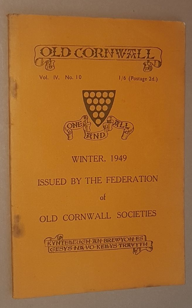 Image for Old Cornwall vol.IV, no.10, Winter 1949