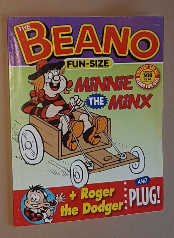 Image for Fun-Size Beano No.308: Minnie the Minx in 'Stunt Girl!', Roger the Dodger in 'Watch the Birdies!'