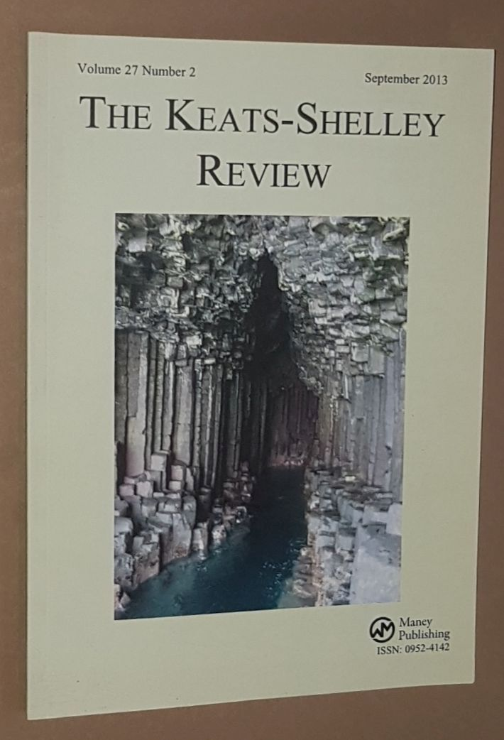 Image for The Keats-Shelley Review. Vol.27 No.2, September 2013