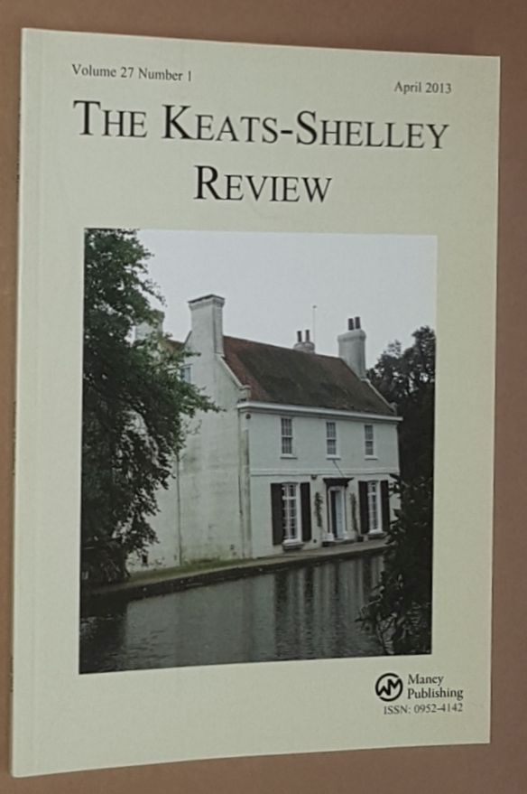 Image for The Keats-Shelley Review. Vol.27 No.1, April 2013