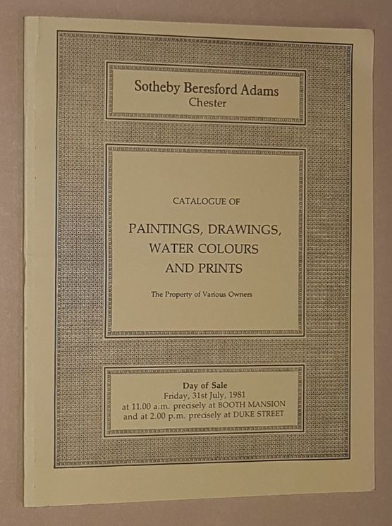 Image for Catalogue of Paintings, Drawings, Water Colours and Prints. 31st July 1981