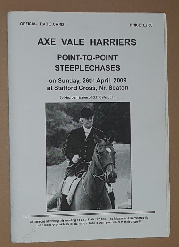 Image for Axe Vale Harriers Point-to-Point Steeplechases, 26th April 2009, Official Race Card