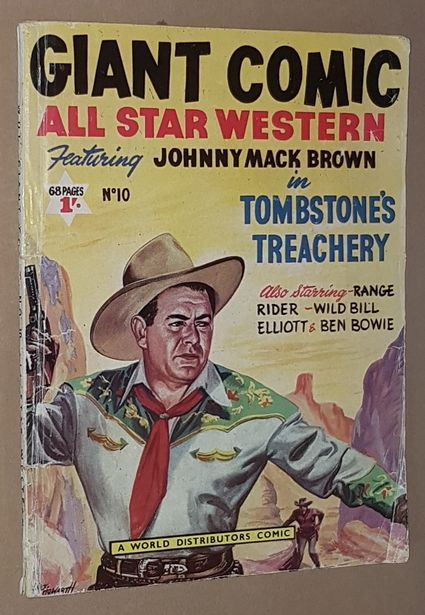 Image for Giant Comic All Star Western Featuring Johnny Mack Brown in Tombstone's Treachery