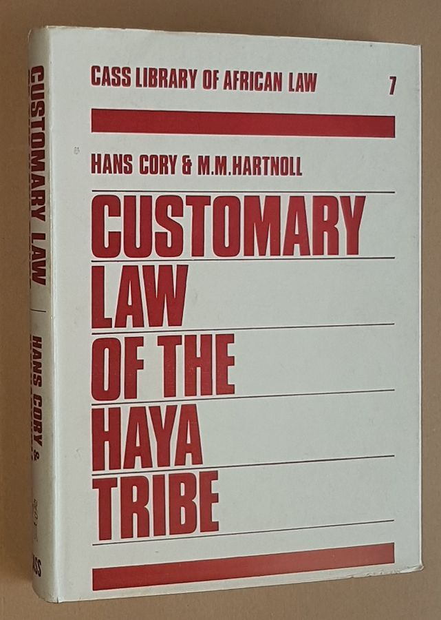 Image for Customary Law of the Haya Tribe, Tanganyika Territory (Library of African Law No.7)