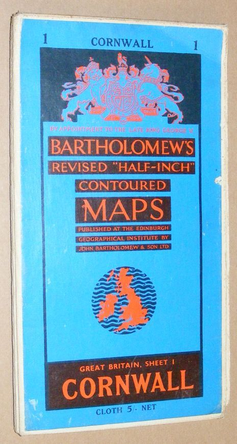 Image for Cornwall. Bartholomew Half Inch Map Series. Great Britain Sheet 1