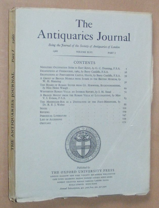Image for The Antiquaries Journal 1966, Vol. XLVI Part I