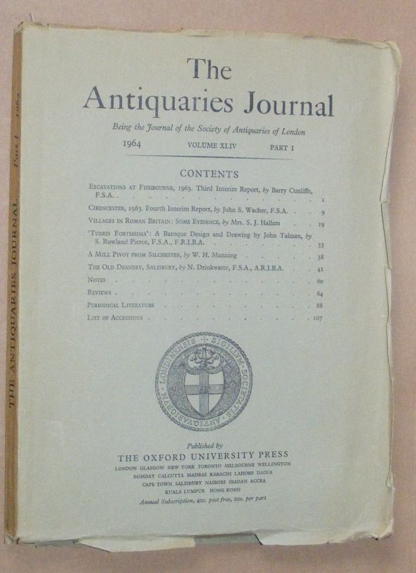 Image for The Antiquaries Journal 1964, Vol. XLIV Part I