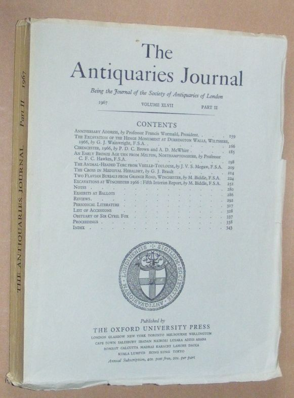 Image for The Antiquaries Journal 1967, Vol. XLVII Part II