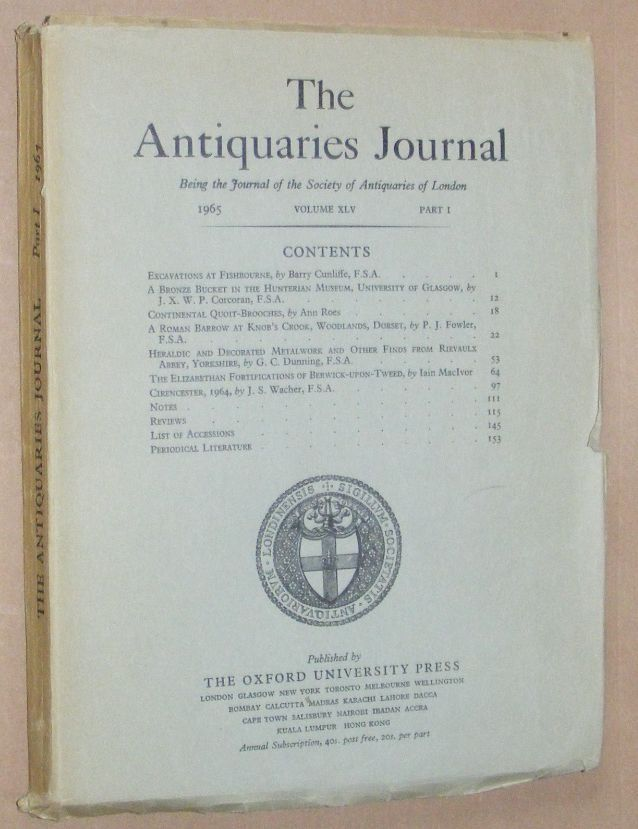 Image for The Antiquaries Journal 1965, Vol. XLV Part I