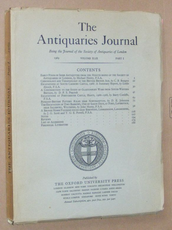 Image for The Antiquaries Journal 1969, Vol. XLIX Part I