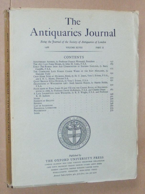 Image for The Antiquaries Journal 1968, Vol. XLVIII Part II