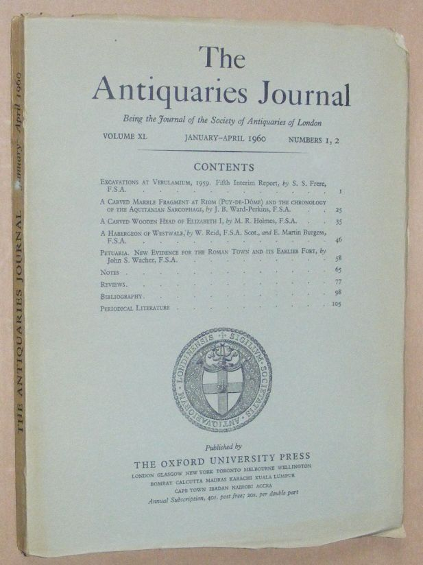 Image for The Antiquaries Journal January - April 1960, Vol. XL Numbers 1, 2