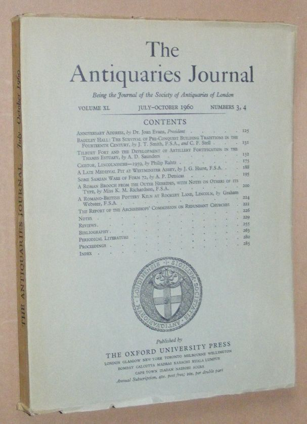 Image for The Antiquaries Journal July - October 1960, Vol. XL Numbers 3, 4