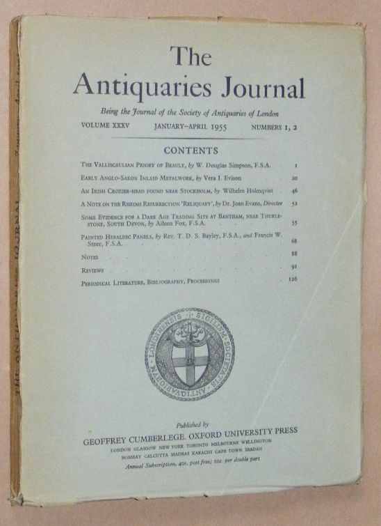 Image for The Antiquaries Journal January - April 1955, Vol. XXXV Numbers 1, 2