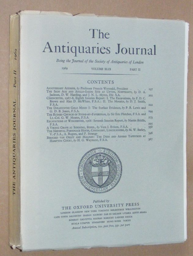 Image for The Antiquaries Journal 1969, Vol. XLIX Part II