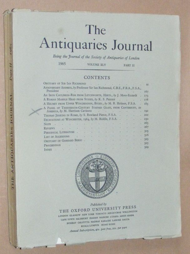 Image for The Antiquaries Journal 1965, Vol. XLV Part II