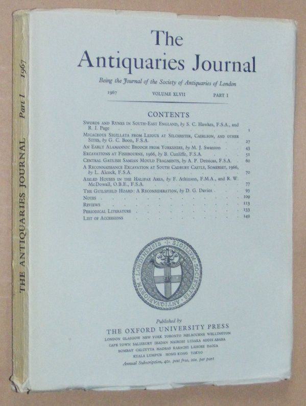 Image for The Antiquaries Journal 1967, Vol. XLVII Part I