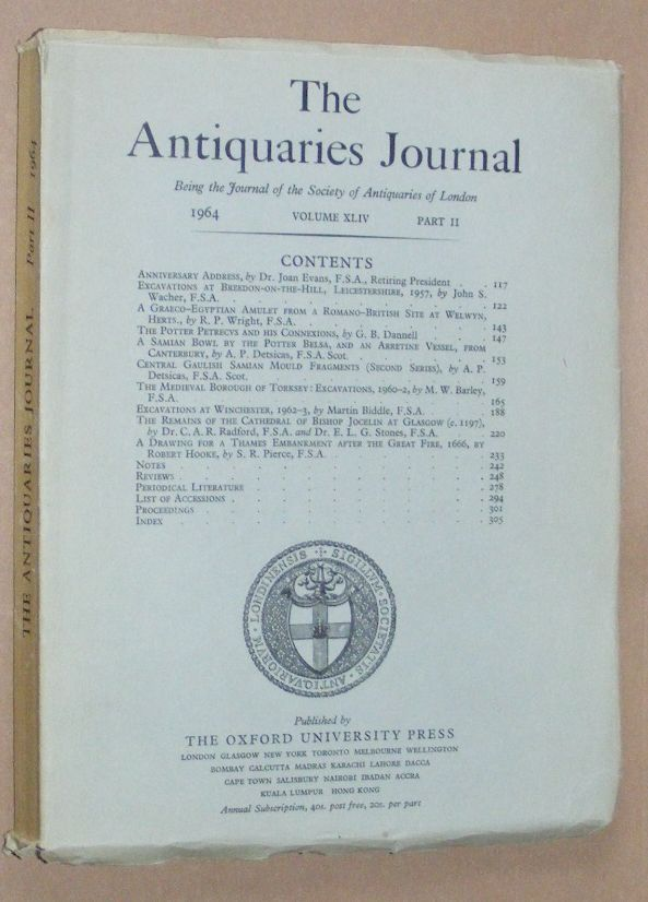 Image for The Antiquaries Journal 1964, Vol. XLIV Part II