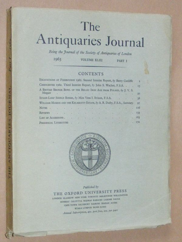 Image for The Antiquaries Journal 1963, Vol. XLIII Part I