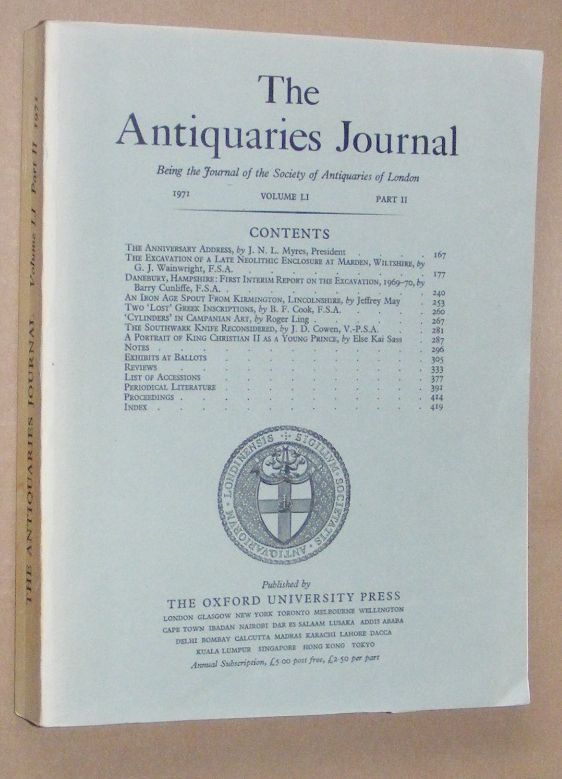 Image for The Antiquaries Journal 1971, Vol. LI Part II