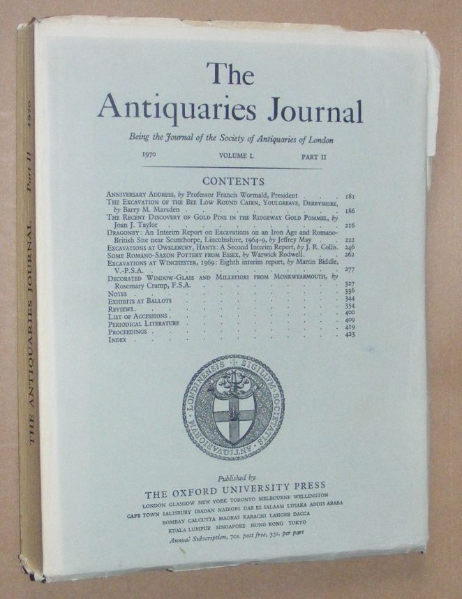 Image for The Antiquaries Journal 1970, Vol. L Part II