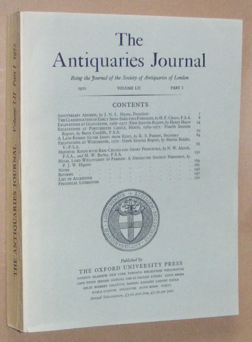 Image for The Antiquaries Journal 1972, Vol. LII Part I