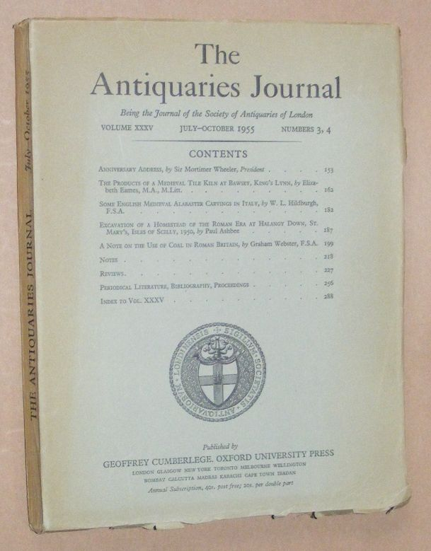 Image for The Antiquaries Journal July - October 1955, Vol. XXXV Numbers 3, 4