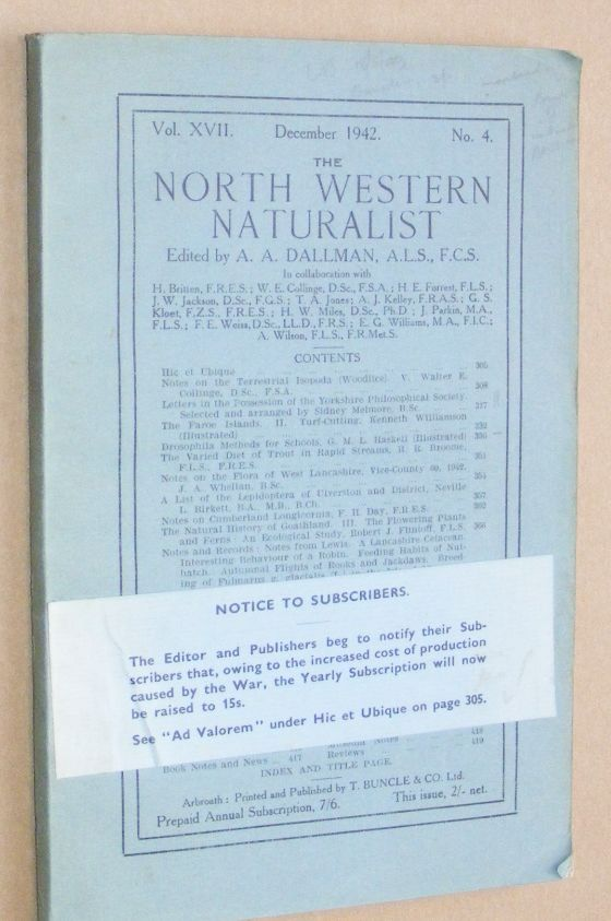 Image for The North Western Naturalist Vol. XVII, No.4, December 1942