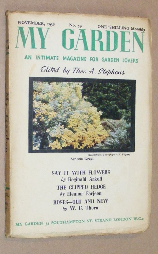Image for My Garden: an Intimate Magazine for Garden Lovers. No.59 November 1938