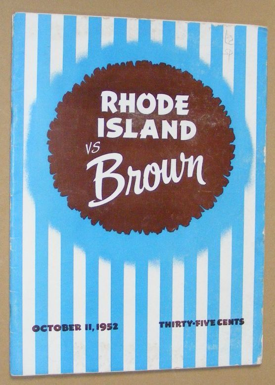 Image for Bruin Athletic News: Brown - Rhode Island Official Program, October 11, 1952
