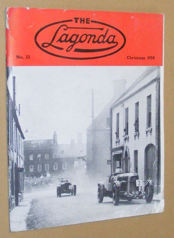Image for The Lagonda: the magazine of the Lagonda Club: No.33, Christmas 1959