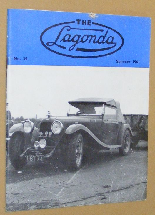 Image for The Lagonda: the magazine of the Lagonda Club: No.39, Summer 1961