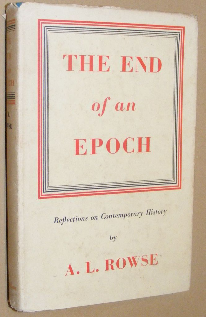 Image for The End of an Epoch: reflections on contemporary history