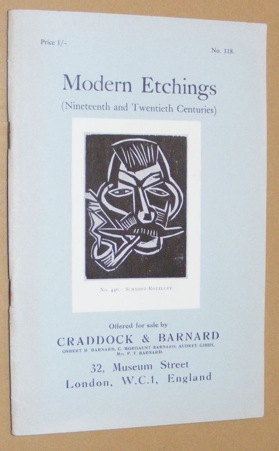 Image for Modern Etchings (Nineteenth and Twentieth Centuries) offered for sale by Craddock & Barnard. No.118
