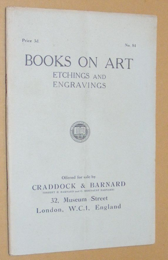 Image for Books on Art: Etchings and Engravings, offered for sale by Craddock & Barnard. No.84