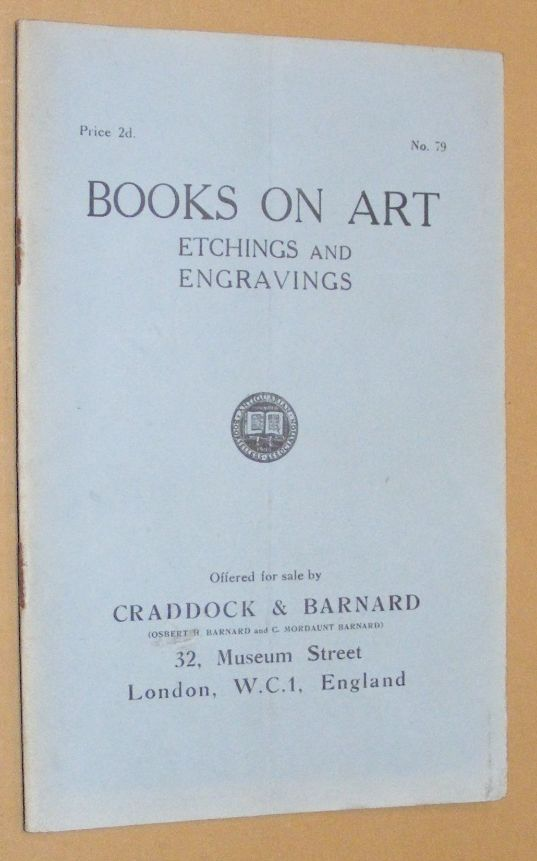 Image for Books on Art: Etchings and Engravings, offered for sale by Craddock & Barnard. No.79