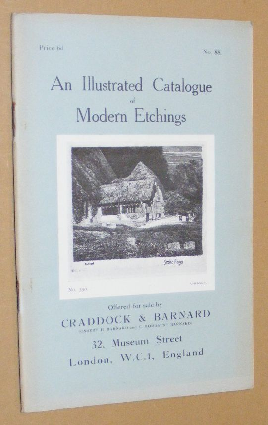 Image for An Illustrated Catalogue of Modern Etchings offered for sale by Craddock & Barnard. No.88