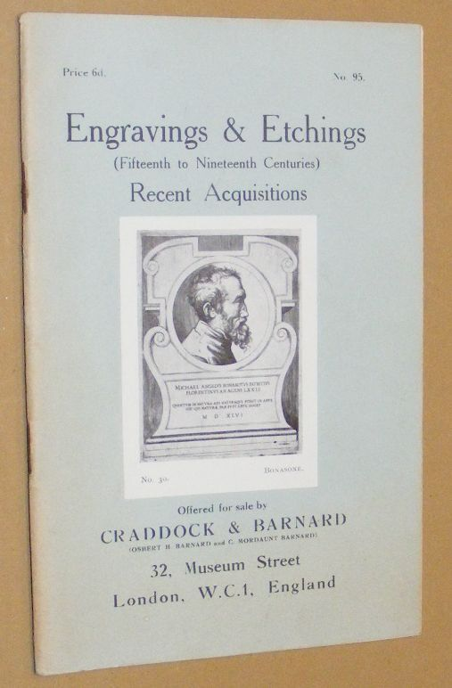 Image for Engravings & Etchings (Fifteenth to Nineteenth Centuries) Recent Acquisitions, offered for sale by Craddock & Barnard. No.95