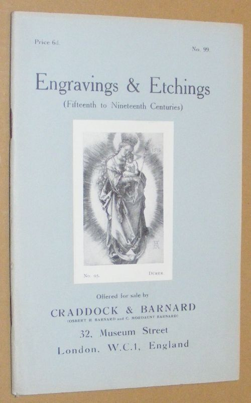 Image for Engravings & Etchings (Fifteenth to Nineteenth Centuries) offered for sale by Craddock & Barnard. No.99