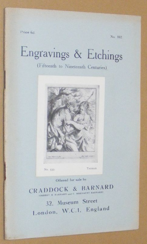 Image for Engravings & Etchings (Fifteenth to Nineteenth Centuries) offered for sale by Craddock & Barnard. No.102