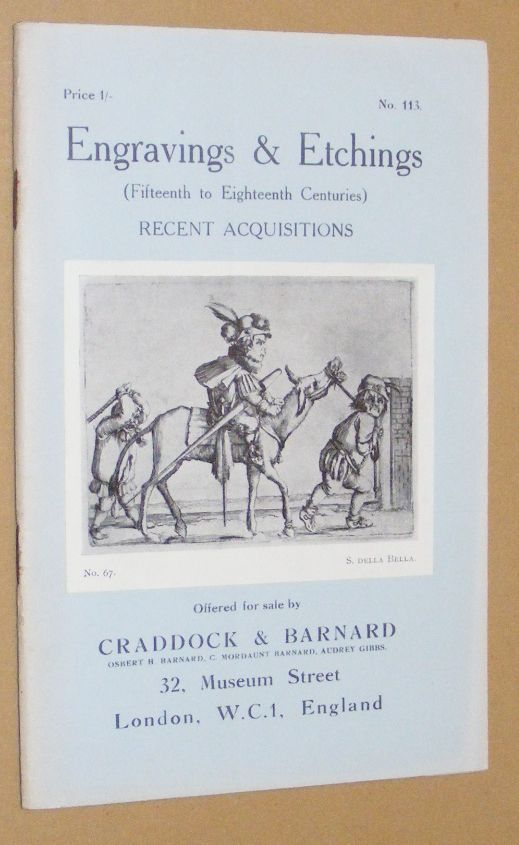 Image for Engravings & Etchings (Fifteenth to Nineteenth Centuries) Recent Acquisitions offered for sale by Craddock & Barnard. No.113
