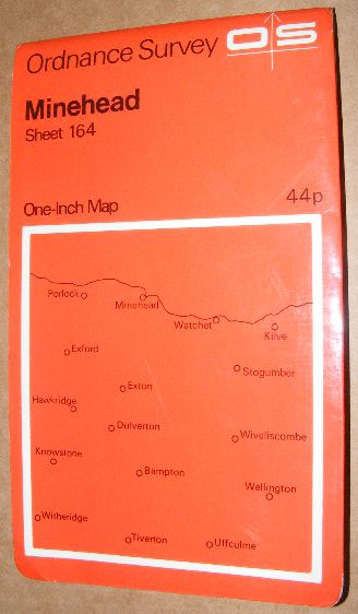 Image for Minehead. Sheet 164 One-inch Map of Great Britain. 1:63360 Seventh Series