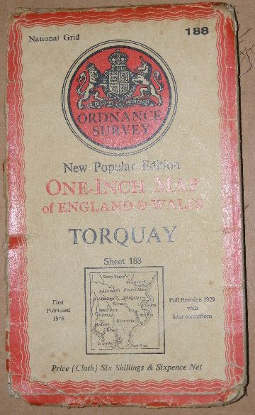 Image for Torquay: New popular Edition One-inch Map (1:63360) of England & Wales, Sheet 188
