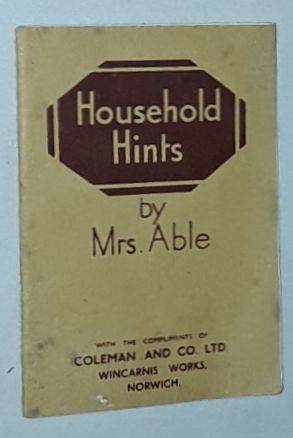 Image for Household Hints By Mrs Able